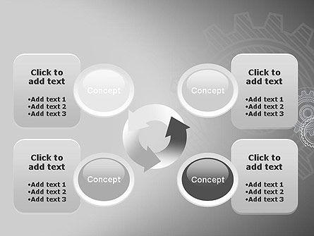 Mechanical Gears Draft PowerPoint Template Slide 9