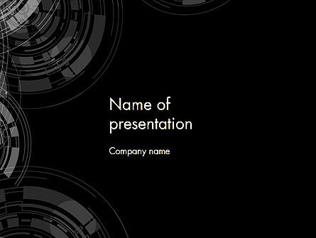 Abstract Technology Circles PowerPoint Template