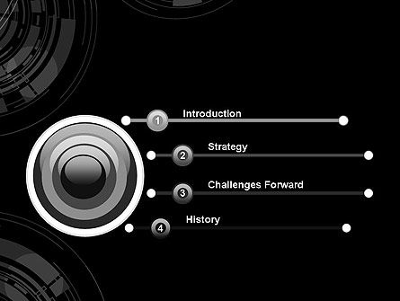Abstract Technology Circles PowerPoint Template Slide 3