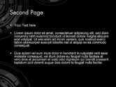 Abstract Technology Circles PowerPoint Template#2