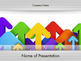 Business Concepts: Up Arrows PowerPoint Template #12477