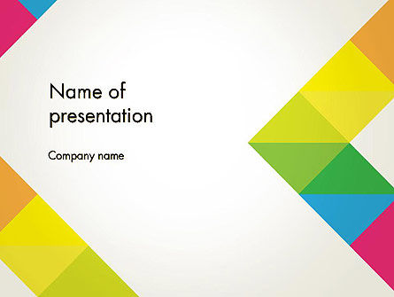 abstract colorful geometric powerpoint template