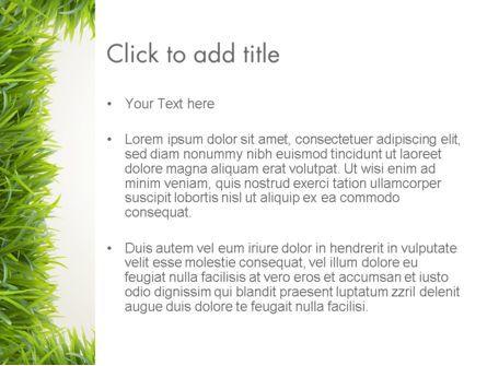 Grass Frame PowerPoint Template, Slide 3, 12480, Abstract/Textures — PoweredTemplate.com