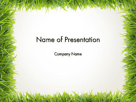Abstract/Textures: Grass Frame PowerPoint Template #12480