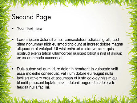 Grass Frame PowerPoint Template Slide 2