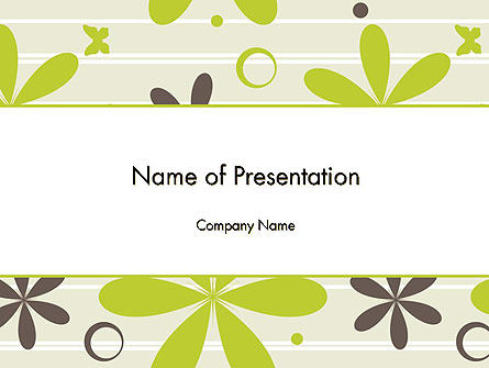 Floral Design Pattern PowerPoint Template, 12481, Abstract/Textures — PoweredTemplate.com