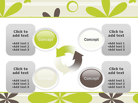 Floral Design Pattern PowerPoint Template Slide 9