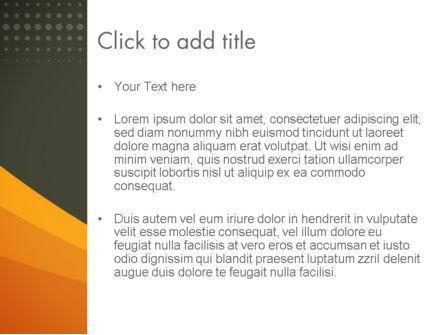 Orange Wave on Gray PowerPoint Template, Slide 3, 12482, Business — PoweredTemplate.com