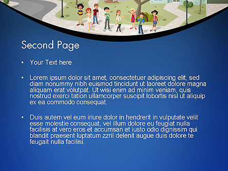 Teenager Students in The Street PowerPoint Template, Slide 2, 12483, People — PoweredTemplate.com