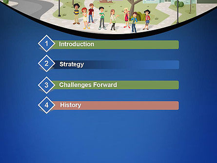 Teenager Students in The Street PowerPoint Template, Slide 3, 12483, People — PoweredTemplate.com
