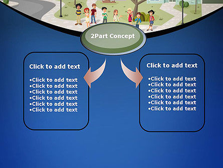 Teenager Students in The Street PowerPoint Template, Slide 4, 12483, People — PoweredTemplate.com