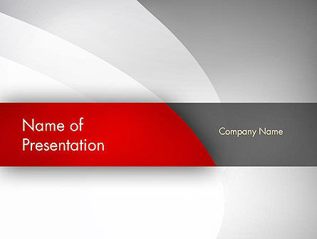 Abstract Gray Arcs PowerPoint Template