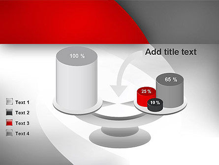 Abstract Gray Arcs PowerPoint Template Slide 10