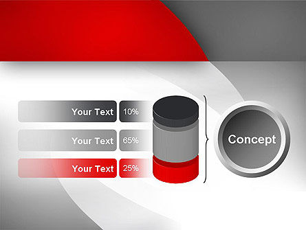 Abstract Gray Arcs PowerPoint Template Slide 11