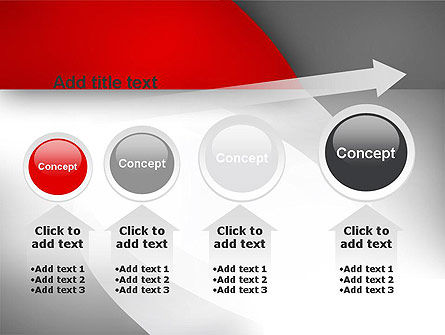 Abstract Gray Arcs PowerPoint Template Slide 13