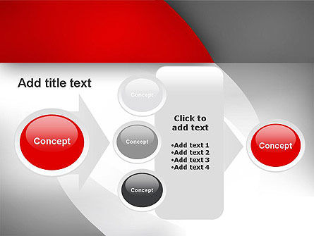 Abstract Gray Arcs PowerPoint Template Slide 17