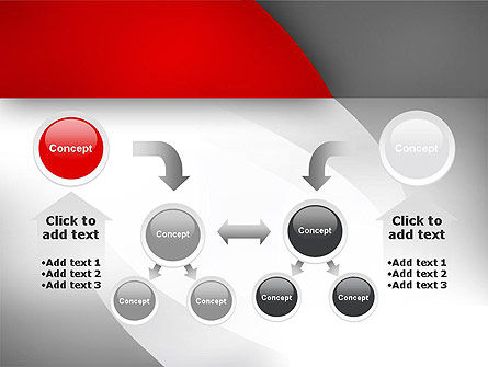 Abstract Gray Arcs PowerPoint Template Slide 19