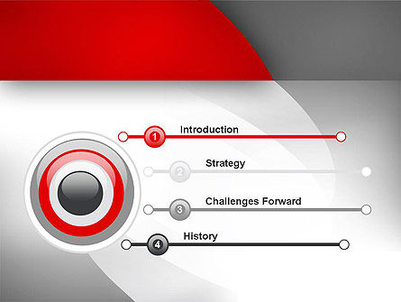 Abstract Gray Arcs PowerPoint Template Slide 3