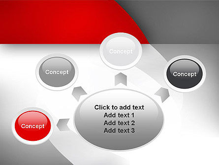 Abstract Gray Arcs PowerPoint Template Slide 7