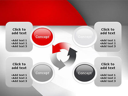 Abstract Gray Arcs PowerPoint Template Slide 9