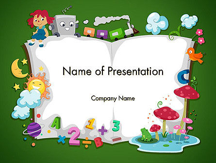 Storybook PowerPoint Template, 12491, Education & Training — PoweredTemplate.com