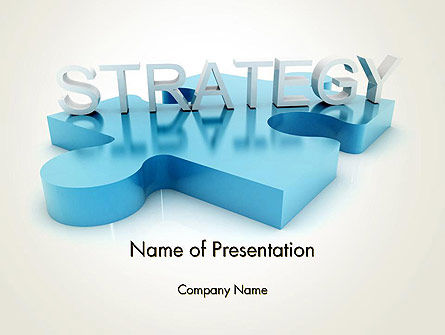 Business Concepts: Puzzle Strategy PowerPoint Template #12492