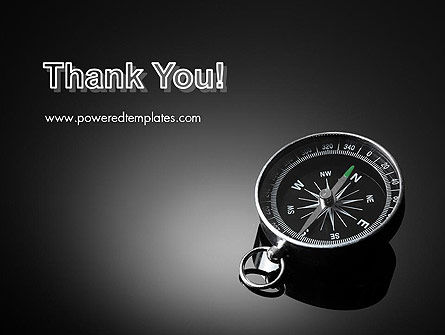 Black and White Compass PowerPoint Template Slide 20