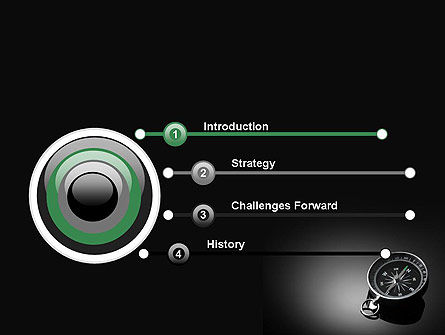 Black and White Compass PowerPoint Template Slide 3