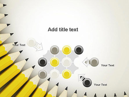 Pencils Arranged in Semicircle PowerPoint Template Slide 10