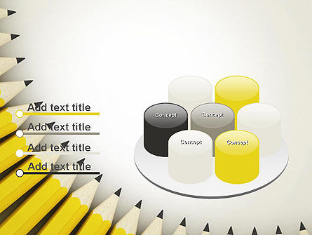 Pencils Arranged in Semicircle PowerPoint Template Slide 12