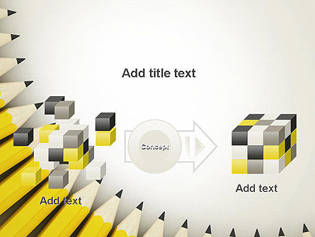 Pencils Arranged in Semicircle PowerPoint Template Slide 17