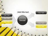 Pencils Arranged in Semicircle PowerPoint Template#15