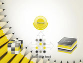 Pencils Arranged in Semicircle PowerPoint Template#19