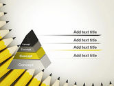 Pencils Arranged in Semicircle PowerPoint Template#4