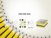 Pencils Arranged in Semicircle PowerPoint Template#9