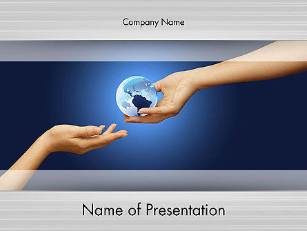 Managing Your World PowerPoint Template, 12498, Global — PoweredTemplate.com