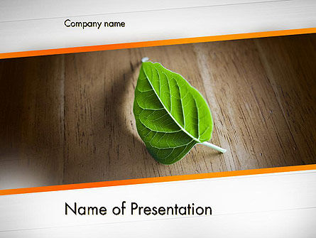 Turn Over a New Leaf PowerPoint Template, 12499, Consulting — PoweredTemplate.com