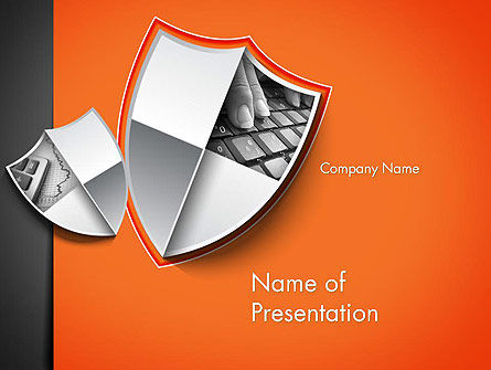 Careers/Industry: Data Protection Solution PowerPoint Template #12500