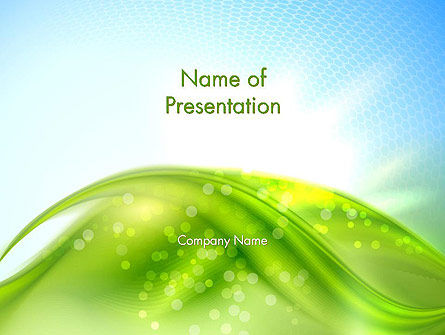 Green Dream Spotty PowerPoint Template, 12501, Nature & Environment — PoweredTemplate.com