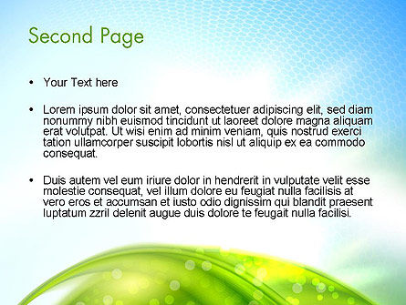 Green Dream Spotty PowerPoint Template, Slide 2, 12501, Nature & Environment — PoweredTemplate.com