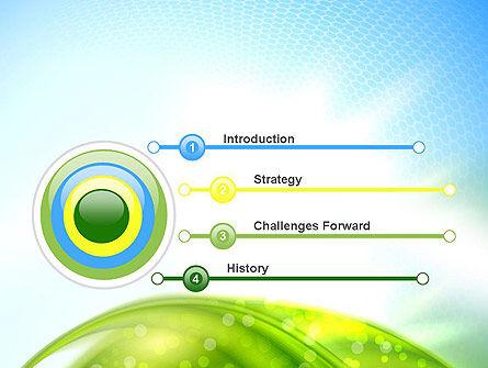 Green Dream Spotty PowerPoint Template, Slide 3, 12501, Nature & Environment — PoweredTemplate.com