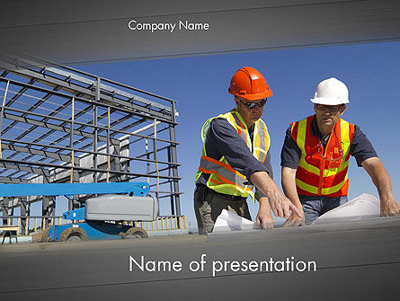 Building and Construction PowerPoint Template, Backgrounds | 12502 ...
