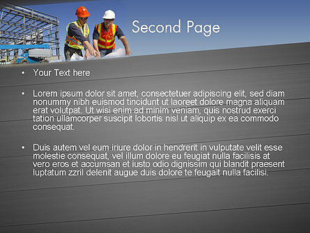 Building and Construction PowerPoint Template, Slide 2, 12502, Construction — PoweredTemplate.com