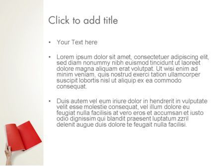 Red Page PowerPoint Template, Slide 3, 12503, Business — PoweredTemplate.com