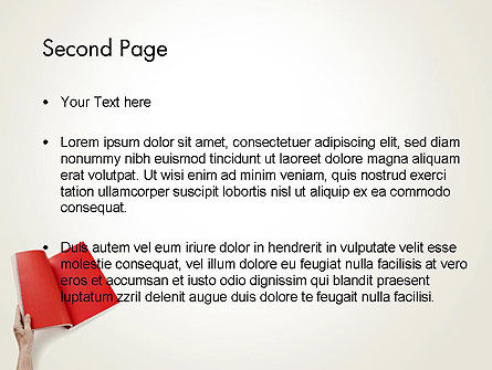 Red Page PowerPoint Template, Slide 2, 12503, Business — PoweredTemplate.com