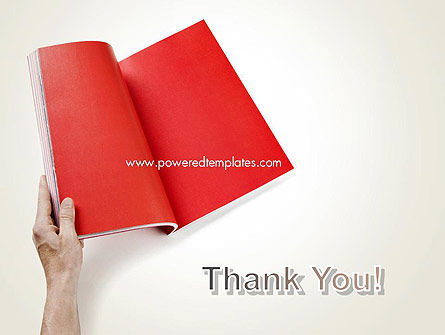 Red Page PowerPoint Template Slide 20