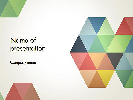 Modern Elegant Colorful Triangle Shapes PowerPoint Template, 12505, Abstract/Textures — PoweredTemplate.com