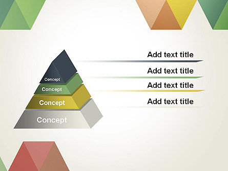 Modern Elegant Colorful Triangle Shapes PowerPoint Template Slide 12