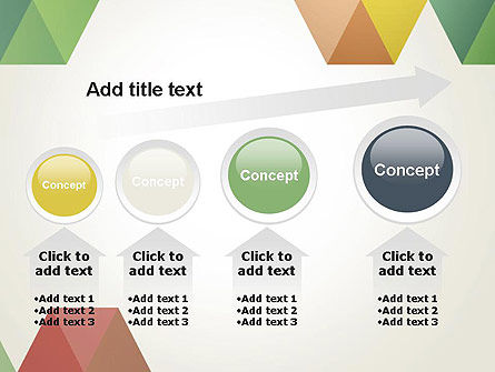 Modern Elegant Colorful Triangle Shapes PowerPoint Template Slide 13