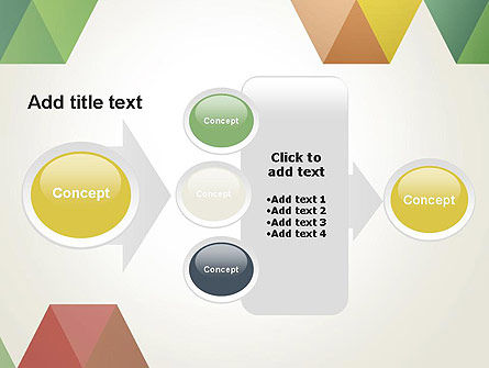 Modern Elegant Colorful Triangle Shapes PowerPoint Template Slide 17